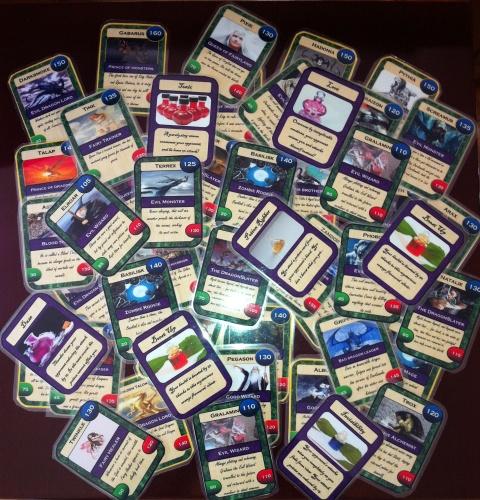 Border colours: Gold = Rare card, Silver = Uncommon card, Black = Common card.